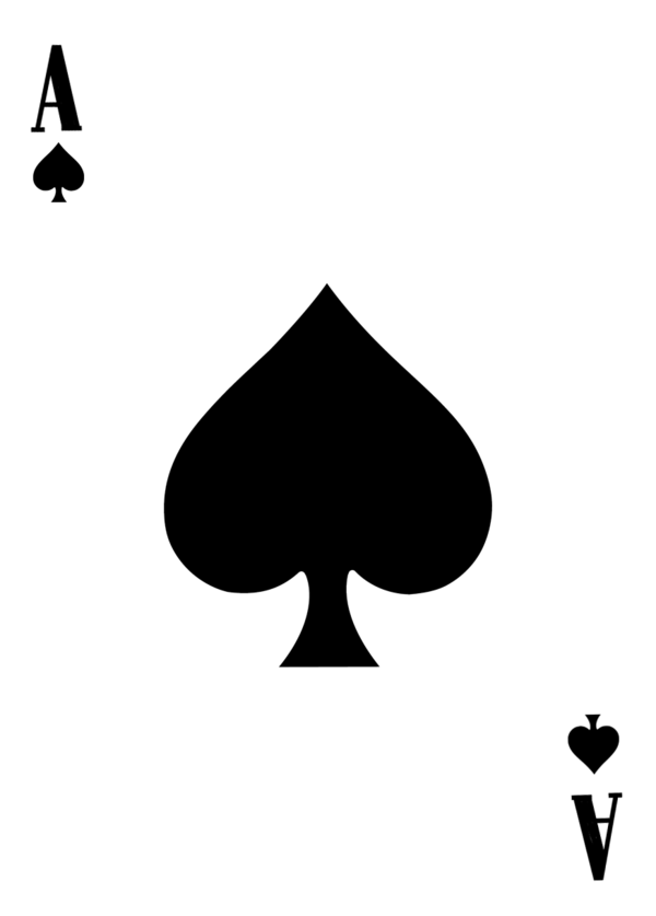 Ace of Spades template by Leeanix PlusPng.com  - Ace Card PNG