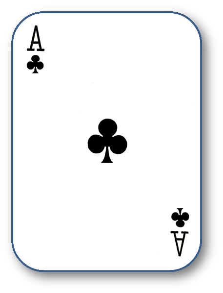 File:Ace of clubs.png - Ace Card PNG