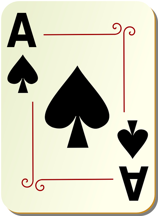 Spades, Ace, Card, Playing, Deck, Poker, Game, Casino - Ace Card PNG