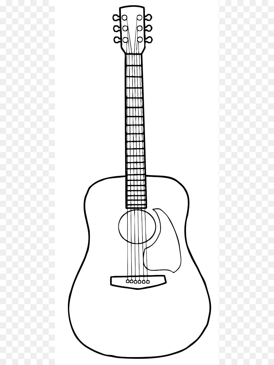 Acoustic Guitar PNG Black And White - 171054
