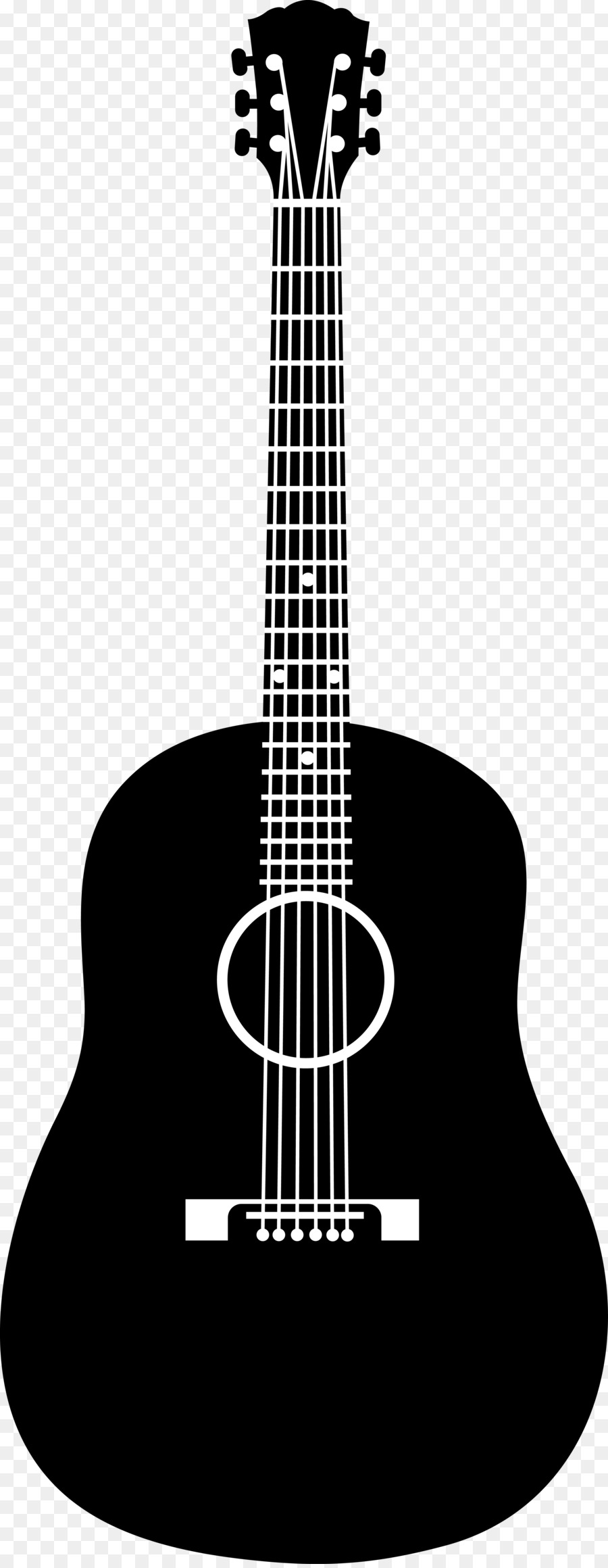 Acoustic Guitar PNG Black And White - 171059