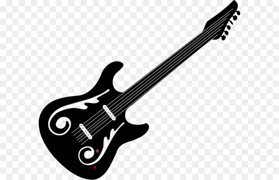 Acoustic Guitar PNG Black And White - 171060