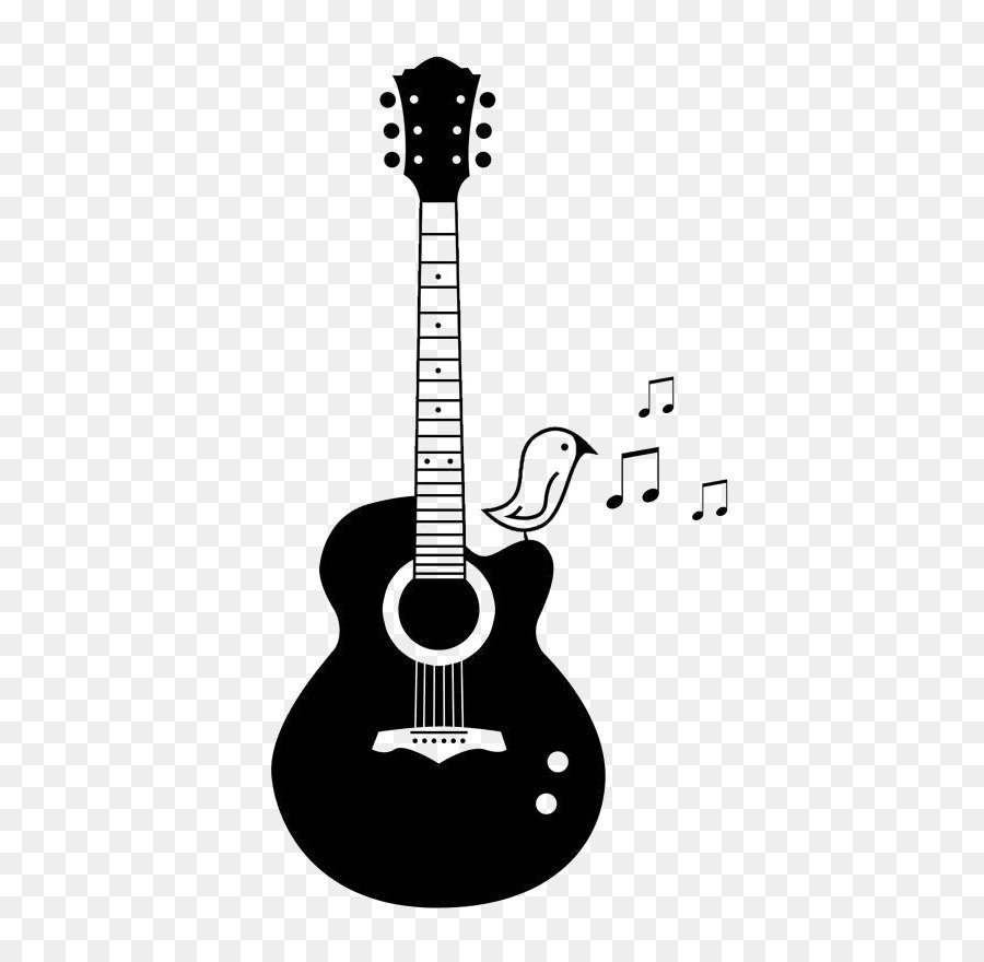 Acoustic Guitar PNG Black And White - 171062