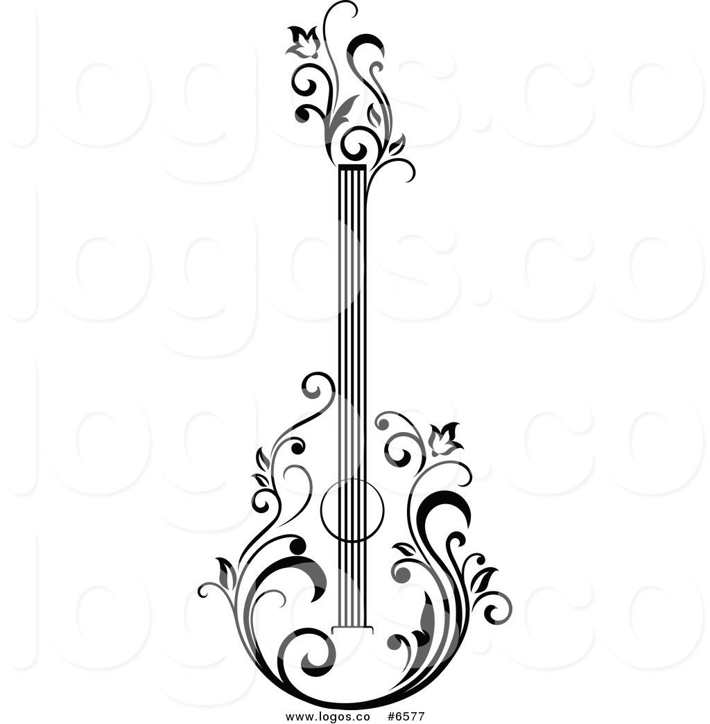 Acoustic Guitar Png Black And White Transparent Acoustic Guitar