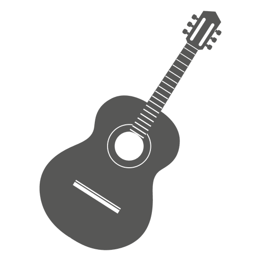 Acoustic Guitar PNG Black And White - 171061