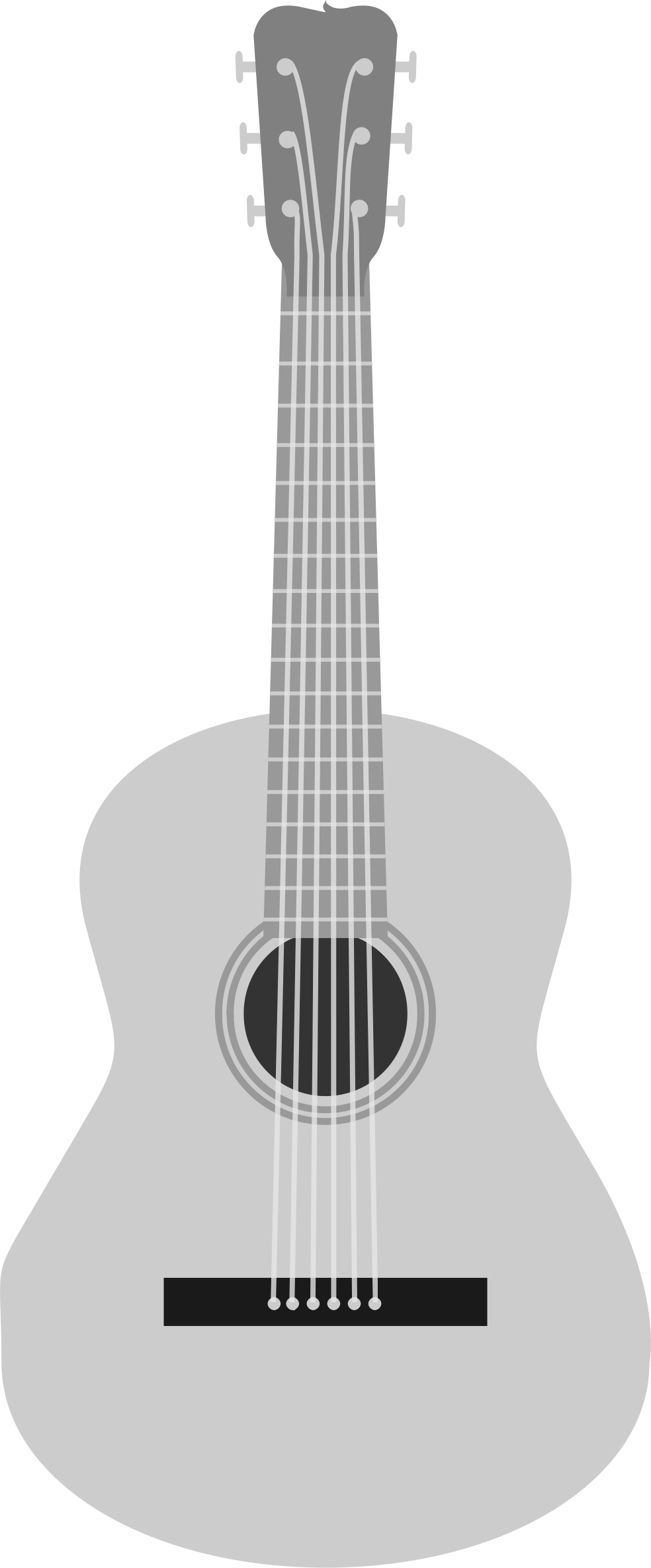 Acoustic Guitar PNG Black And White - 171057