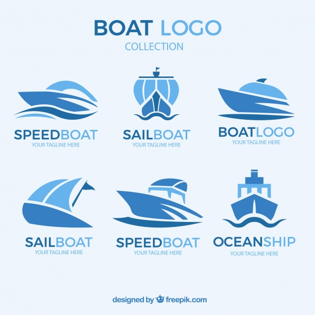 Abstract Boat Logo Collection - Acqua Boat Logo Vector PNG
