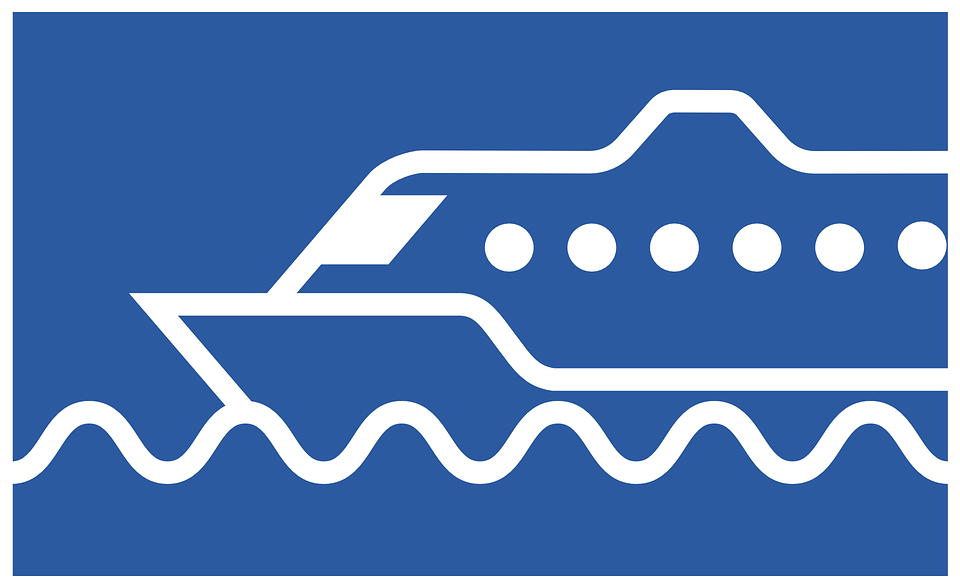 Boat Ferry Logo Ship Transport Travel - Acqua Boat Logo Vector PNG