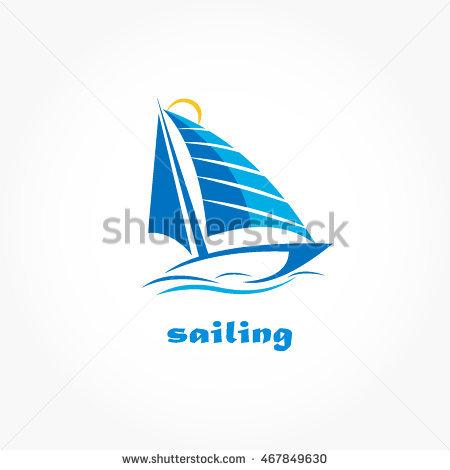 sailing boat logo vector - Acqua Boat Logo Vector PNG