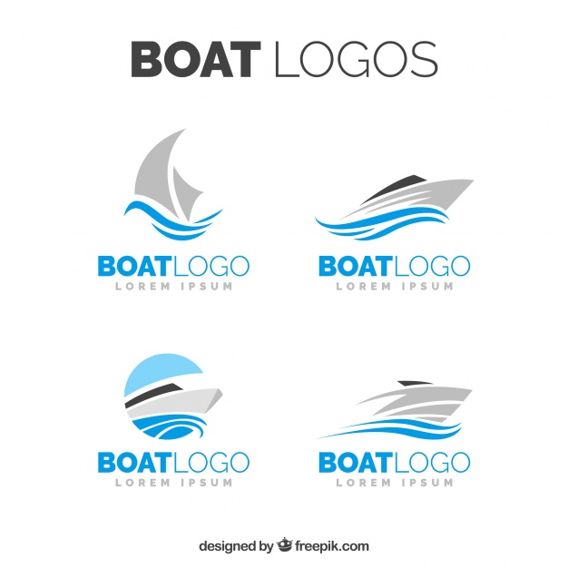 Selection Of Boat Logos In Minimalist Design - Acqua Boat Logo Vector PNG