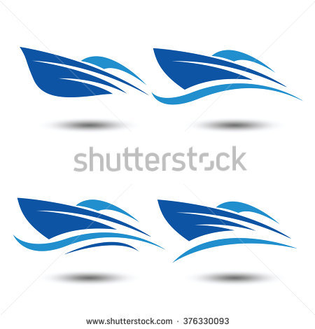 Speed Boat Logo Icon,vector Illustration - Acqua Boat Logo Vector PNG