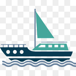Flat sailboat vector, Cartoon Cargo Ship, Vector Cargo Ship, Ocean Shipping  PNG and - Acqua Boat Vector PNG