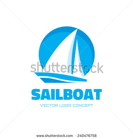 . PlusPng.com Sail boat - vector logo template concept illustration. Ship sign.  Design element. - Acqua Boat Vector PNG
