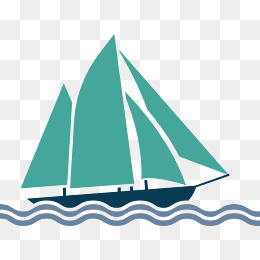 Sailing boat in the sea, Cartoon Cargo Ship, Vector Cargo Ship, Ocean  Shipping - Acqua Boat Vector PNG