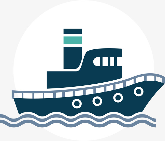 Vector ship material Free PNG and Vector - Acqua Boat Vector PNG