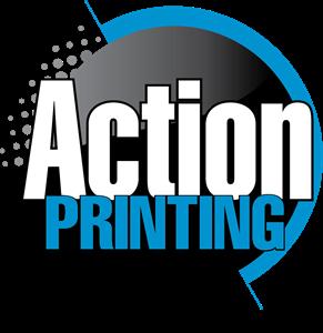 Action Printing Logo Vector