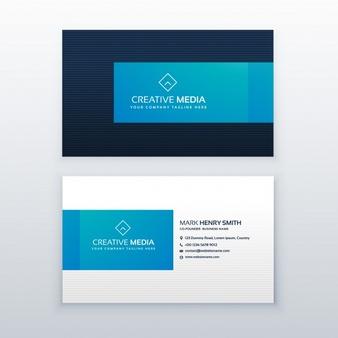 Modern blue business card template - Adac Logo Vector PNG