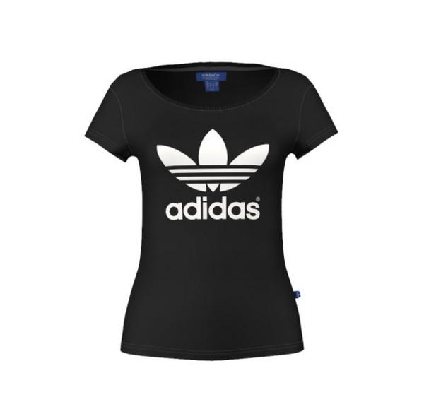 Adidas Originals Trefoil Tee Black G76739 - Adidas Trefoil PNG