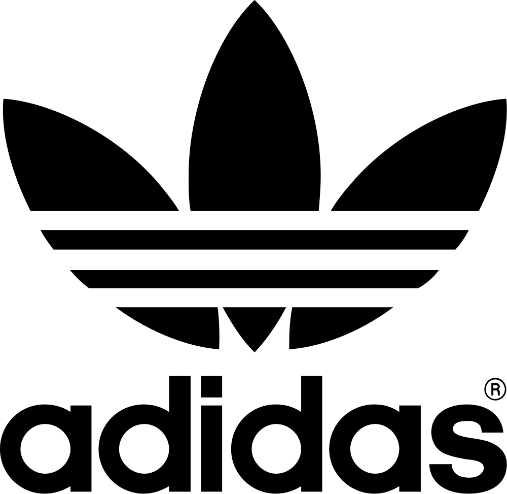 Aus SVG automatisch erzeugte PNG-Grafiken in verschiedenen Auflösungen:  200px, 500px, 1000px, PlusPng.com  - Adidas Trefoil PNG