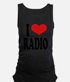 iloveradioblk.png Maternity Tank Top - Adio Clothing PNG