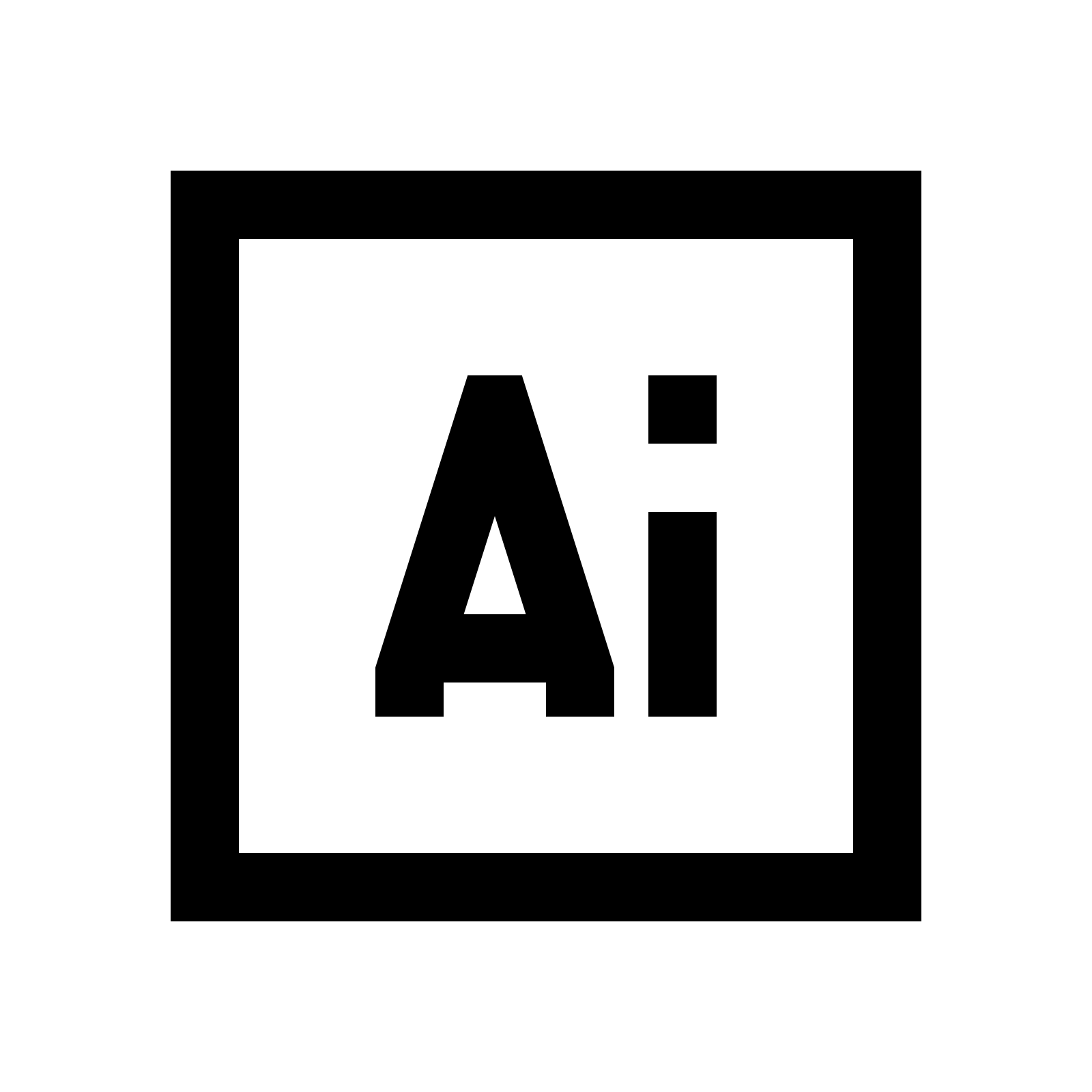 Adobe Illustrator icon - Adobe Black Logo Vector PNG