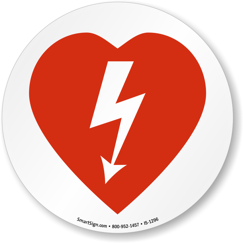 AED Automated External Defibrillator Symbol ISO Circle Sign - Aed Logo PNG
