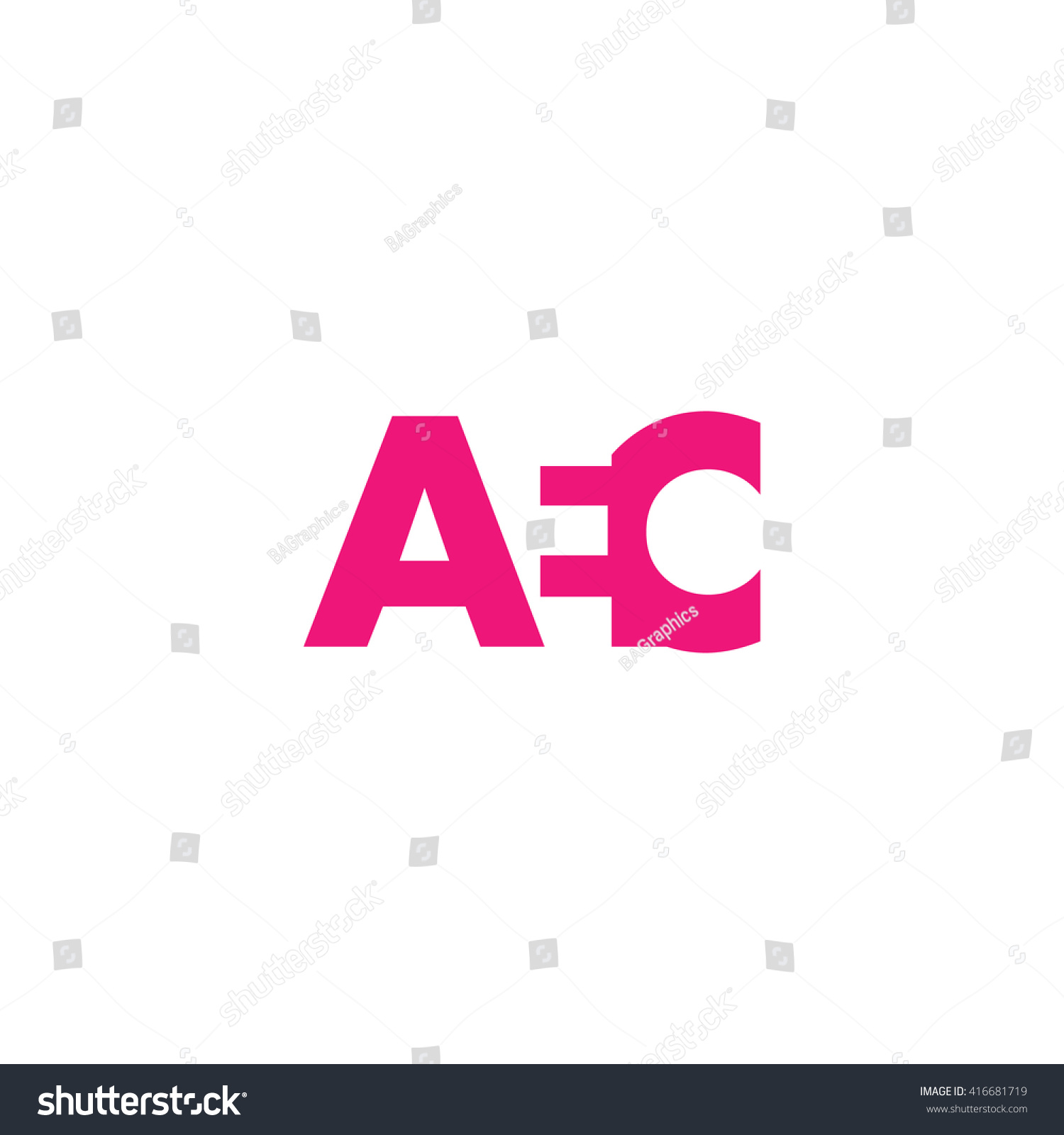 AEC Logo. Vector Graphic Branding Letter Element. White Background - Aed Logo Vector PNG