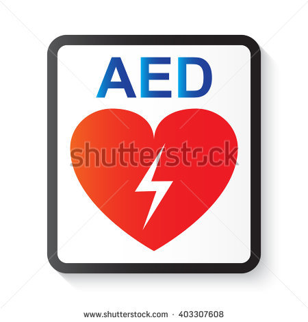 AED (Automated External Defibrillator), heart and thunderbolt (image for  basic life support - Aed Logo Vector PNG