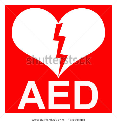 Isolation of a red AED symbol to indicate that there is a defibrillator  located in the - Aed Logo Vector PNG