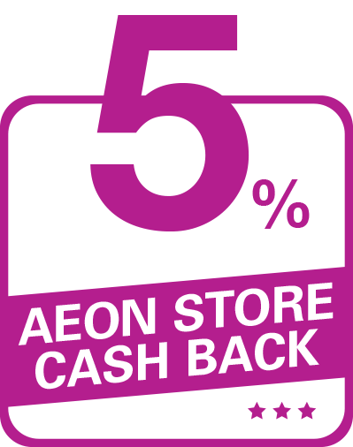 Get 5% Cash Back on the 20th of every month at AEON Stores. - Aeon PNG