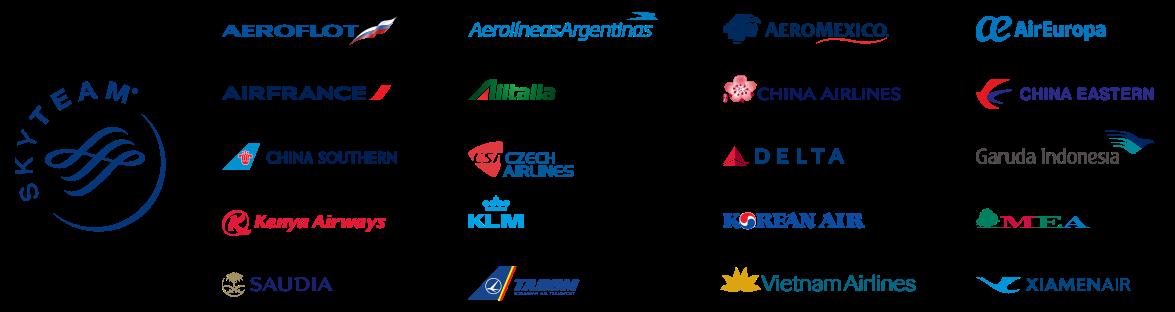 Skyteam Bonus Mileage Chart (Departure region) - Aeromexico Skyteam PNG
