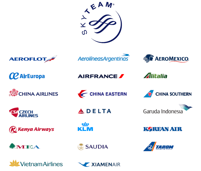 SkyTeam Partners - Aeromexico Skyteam PNG