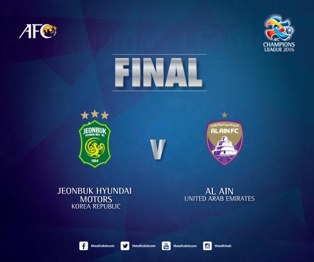 AFC Champions League 2016 Final 1st Leg Jeonbuk Hyundai Motors Vs Al Ain - Afc Champions League PNG