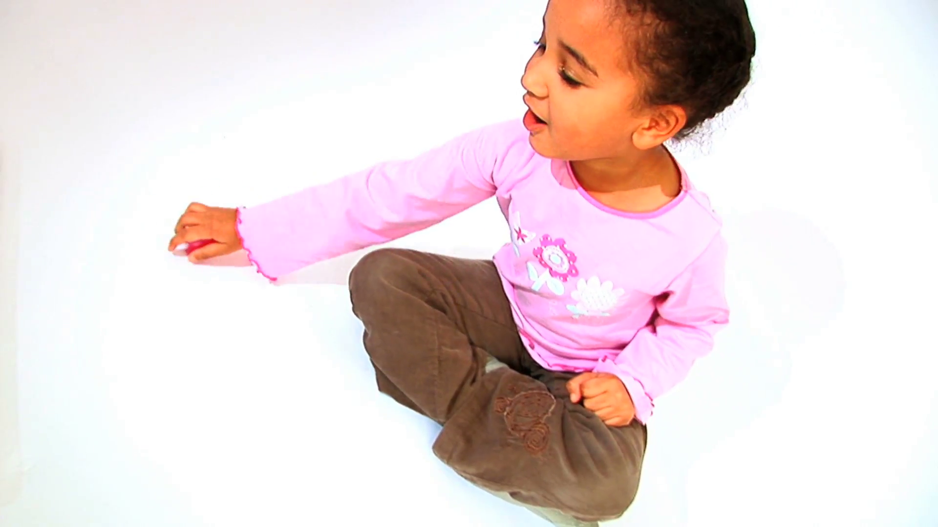 Cute little african american girl rolling a dice isolated on white  background Stock Video Footage - VideoBlocks - African American Baby PNG HD