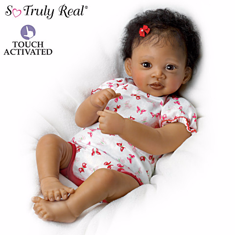Sweet Butterfly Kisses - African American doll - African American Baby PNG HD