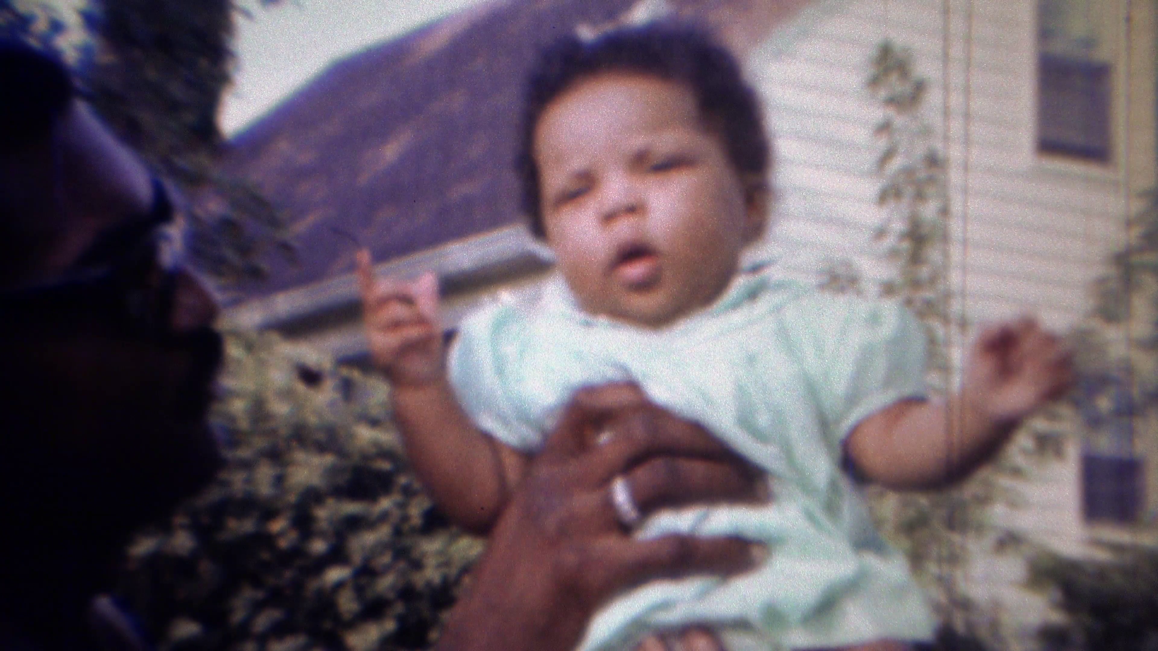 1967: Proud African American dad holds up new baby girl. CARMEL, INDIANA  Stock Video Footage - VideoBlocks - African American Dad PNG