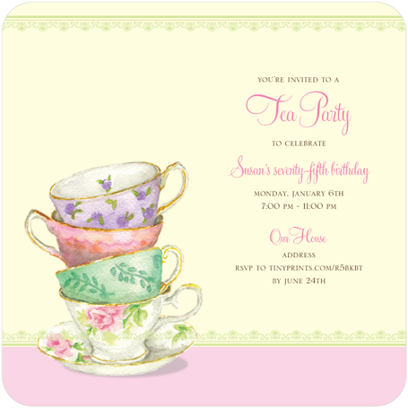 80th Birthday Tea Party Ideas - Afternoon Tea Party PNG
