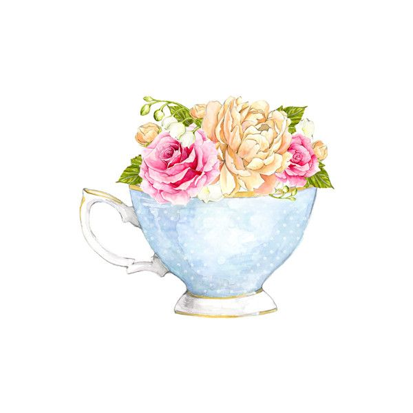 Tea Party 2.png ❤ liked on Polyvore featuring watercolor - Afternoon Tea Party PNG