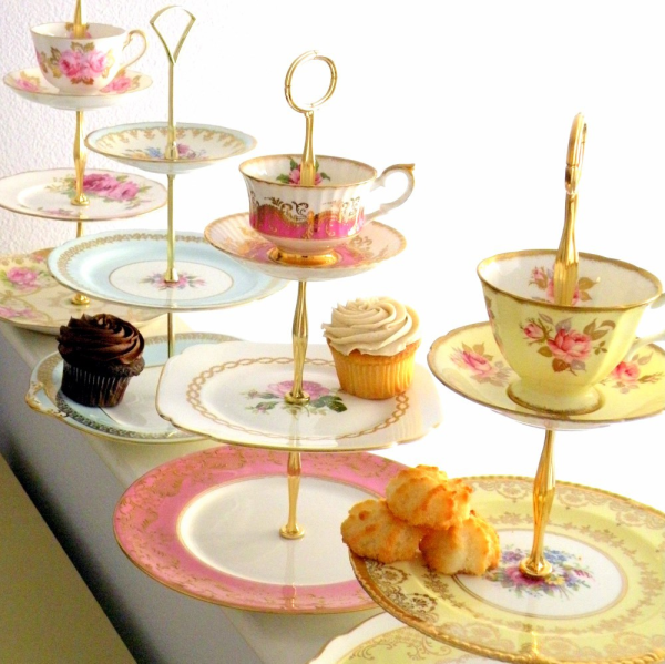 Though itu0027s not secret that I prefer coffee to tea, my cup runneth over  with love for this three-tiered cupcake stand! This adorable set made of  china may PlusPng.com  - Afternoon Tea Party PNG