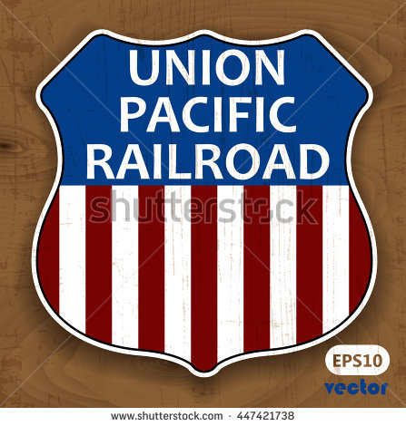 Union Pacific Railroad. Vintage sign. Vector. - Union Pacific Vector PNG - Agroexpo 2007 Vector PNG