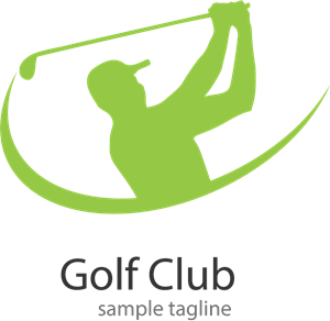 Ahoi Golf Club vector logo .
