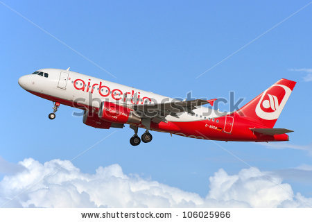 DOMODEDOVO, RUSSIA - SEPTEMBER 1: Aircraft operated by Air Berlin, taking  off at - Air Berlin Vector PNG