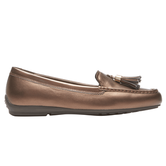 Total Motion Driving Tassle Moc, BRONZO PEARL PATENT - Air Court Motion PNG