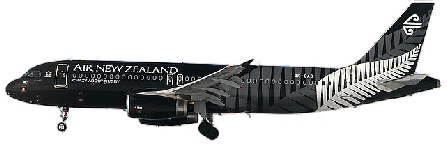 Air New Zealand Airbus A320 Crazy About Rugby. - Air New Zealand PNG