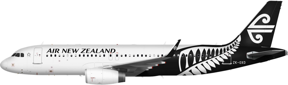 Airbus A320 (International) - Air New Zealand PNG