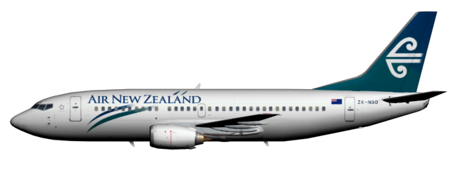 ZK-NGO Retro Waves - Air New Zealand PNG