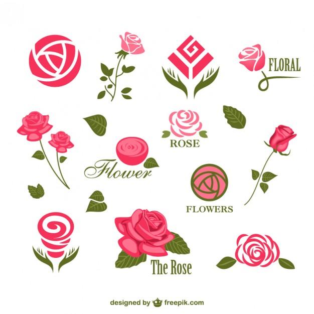 Abstract rose logos - Air Rose Vector PNG