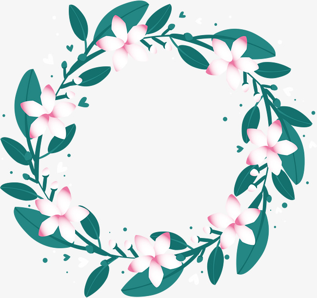 Little fresh white flower wreath, Vector Png, Like A Breath Of Fresh Air,  White Flowers Free PNG and Vector - Air Rose Vector PNG
