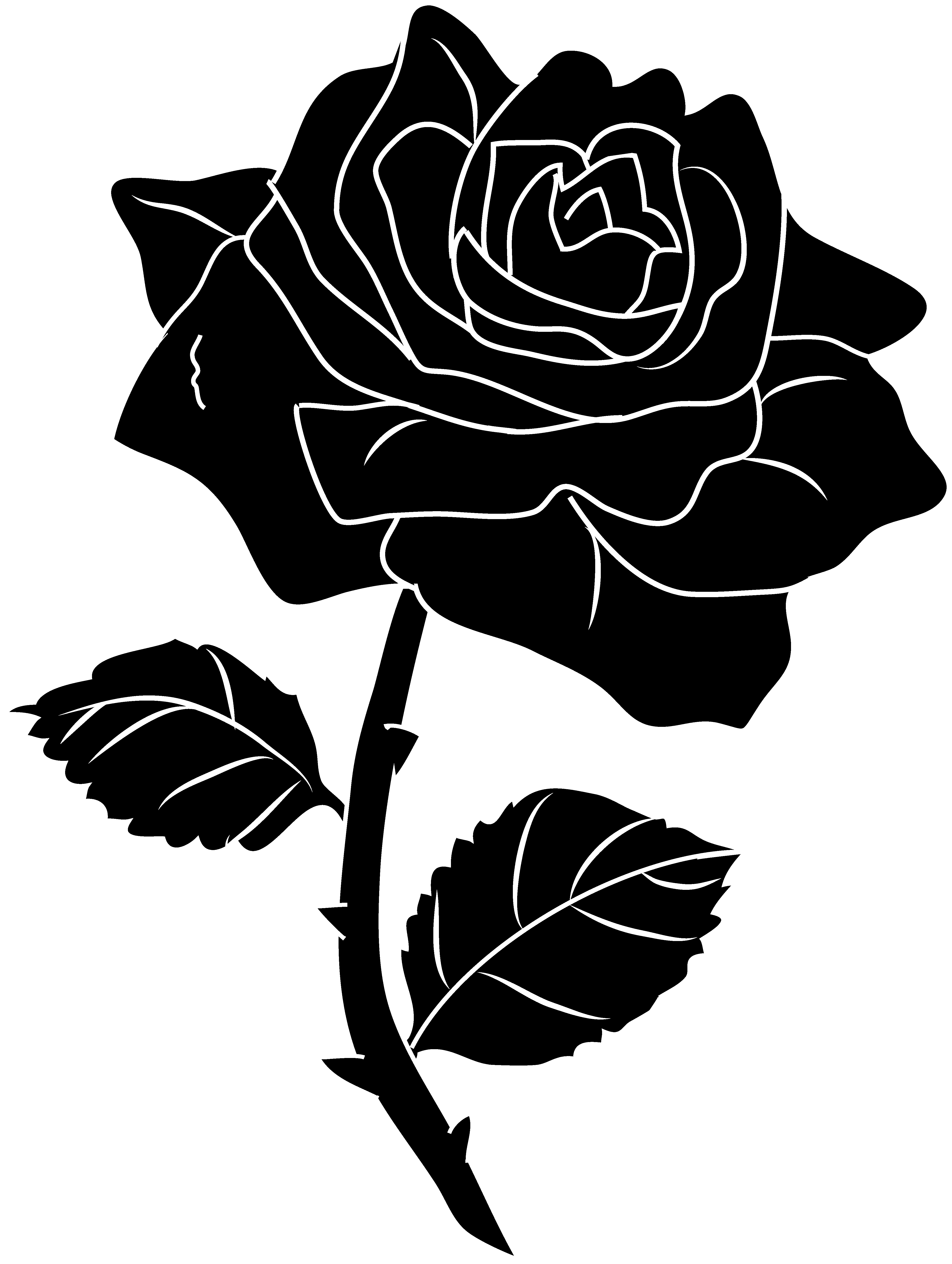 pin Rose clipart silhouette #3 - Air Rose Vector PNG