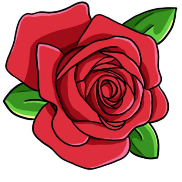 Red Rose Clip Art L image - vector clip art online, royalty free - Air Rose Vector PNG